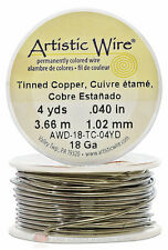 Tinned Artistic Craft Wire 12 Feet 3.65 Meters Jewelry Beading Crafts 18 Gauge