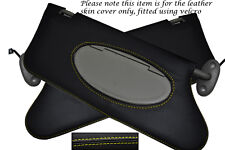 YELLOW STITCHING FITS ROVER 75 MG ZT 1999-2005 2X SUN VISORS LEATHER COVERS ONLY