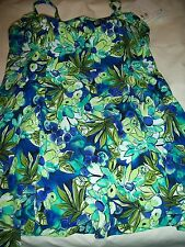 LADIES WOMENS MISS SIZE 16 ONE PIECE SWIMDRESS BATHING SUIT BY IT FIGURES NWT