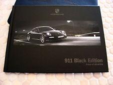 PORSCHE 911 997 LIMITED BLACK EDITION PRESTIGE GIFT BOXED SALES BROCHURE 2011.