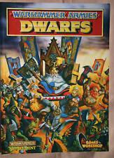 WARHAMMER ARMIES DWARFS SUPPLEMENT