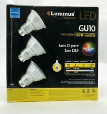 Luminus LED GU10  3 Pack | Dimmable | 25,000 Hours of Life | 400 Lumens (DDE06)