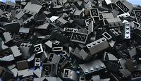 LEGO 100 x Dachsteine Dachziegel schwarz roof brick black normal and invers