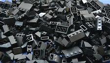 LEGO 100 x Dachsteine Dachziegel schwarz   roof bricks black normal and invers