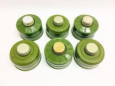 6pcs nato 40mm gas mask filters 40mm replacements GP-7 GP-5 ISRAELI PMK GP-7V