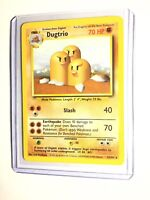 DUGTRIO - Base Set - 19/102 - Rare - Unlimited Edition - NM