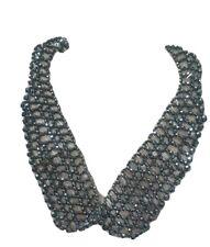 Beaded Collar Negro Perla Collar Gargantilla