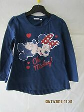 Disney Long Sleeve Minnie Mouse T-shirt - Age 6