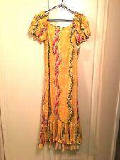 Hilo Hattie Extra Small Long Yellow Dress NWT