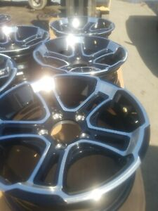 P15x5 5x4.5 Lug Whitehawk BLACK w/ Aluminum accent Wheel, Trailer City Direct!