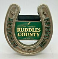 RUDDLES COUNTY METAL PUMP CLIP - PUB HOME BAR BADGE BITTER BEER MAN CAVE ALE