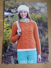 Sirdar Country Style DK - Pattern No 9615 - Round Neck Sweater - Inc Large Sizes