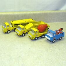 Vintage Tonka Tiny Cab Over Trucks (4), Group, Bottom Dump, Hauler, Cement, Tow