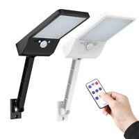 48 LED 3 Modes Solar Power Light Remote PIR Motion Sensor Outdoor Garden Lamp