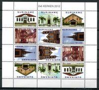 Surinam 2012 Kirchen Religion Kerken Churches 2553-2558 Kleinbogen MNH