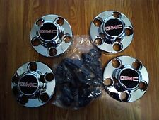 NEW Set of 4 GMC 1988-1999 1500  Sierra Truck Van OEM Center Caps Hubcap 5 Lug