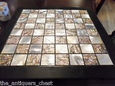 Mother of pearl and abalone? chess with Korean figures, made in Korea, new