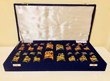 Luxury Indian Handmade Chess Pieces In Beautiful Box