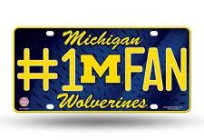 Michigan Wolverines License Plate #1 Fan Aluminum