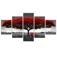 5 X Unframed Modern Art Oil Painting Canvas Print Wall Picture Home Room Decor