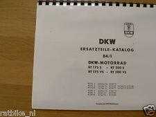 D0051 DKW---ERSATZTEILE-KATALOG 84-1---RT 175( S + VS ) + RT 200 ( S + VS )-MODE