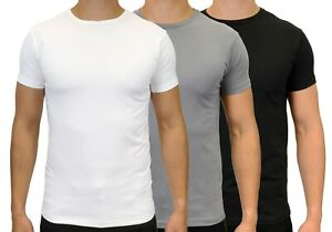 Men's Slim Fit Short Sleeve Stretch Crew Neck T-Shirts