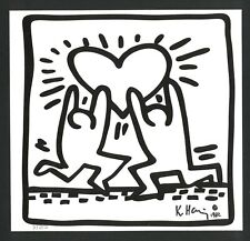 KEITH HARING Offset Lithography - Hand signed in pencil - LOVE