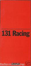 Fiat 131 Racing Original ENGLISH Prospekt Catalog Brochure 1978 Mint Condition