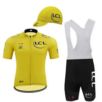 Tour de France LCL Retro Cycling Jersey Bib Short Set