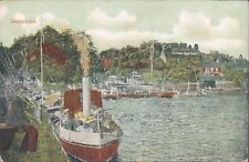 UK Surrey Shepperton harbour view 1910s PC