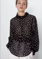 Zara Floral Blouse With Combined Embroidery (NWT) Size:S