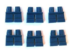 LEGO 6 Short Minifigure Figure Legs Leg Dark Earth Blue