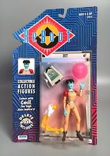 1995 REBOOT DOT Data Sprite Action Figure w/ Cecil + Delete Disk MOC Irwin Toy