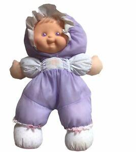 "Vintage 1990 Fisher Price Puffalump Kids Heidi Purple 13"" Baby Doll"