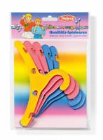 5 bunte Puppenkleiderbügel alle gängigen Kleider Puppe leuchtende Farben HELESS