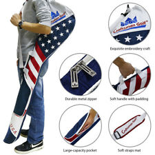 Authentic Golf Club Case Sunday Bag Range Carry Travel Golf Iron Carry USA Flag