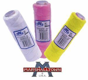 MARSHALLTOWN/NEILSON Braided Nylon Mason's Brick Line White / Pink & Yellow