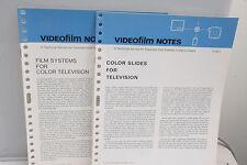 Kodak VideoFilm Notes H-401- H-40-2 1971 Pamphlets Film Television Slides - B133