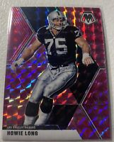 HOWIE LONG Pink Camo Prizm Parallel  Mosaic Football 2020  Raiders #107