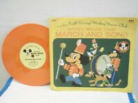 """""""Mickey Mouse Club March and Song""""Mickey Mouse Club,US,7"""" 78RPM w P/S,Orange,M-"""