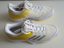 Adidas Womens Adizero Club Tennis Shoes - NEW - White Yellow | *UK 5.5  (BY1610)