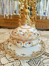 "ELEGANT HUTSCHENREUTHER ""PERSIA"" BONE CHINA DOMED SAUCE/GRAVY/SOUP TUREEN"