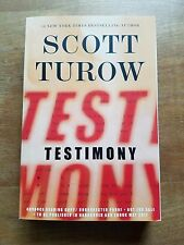 Testimony by Scott Turow (Kindle County Legal Thriller #10) Paperback, ARC