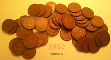 Roll of 1952 King George VI Canada Penny