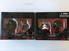 Star Wars Black Series Titanium Mini Helmets  Lot Of 2