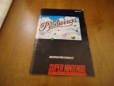 Pilot Wings Super Nintendo SNES Instruction Manual Booklet ONLY Pilotwings Pilet