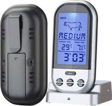 Digitales Bratenthermometer Funk Grillthermometer Fleisch-Thermometer wireless