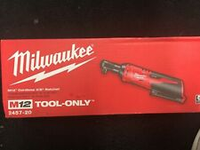 MILWAUKEE 2457-20 12V 12VOLT M12 3/8'' Cordless Ratchet Bare Tool New In Package