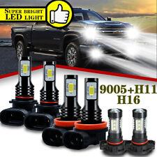 For Chevy Silverado1500 2500HD 2007 2008 2009- 2015 LED Headlights+Fog Bulbs Kit