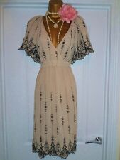 OASIS 1920s Style Gatsby Flapper Charleston Sequin Beaded Dress Size 8 NEW